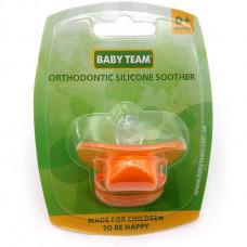 Пустышка силиконовая ортодонтическая Baby Team 1 шт 0+ (3001)