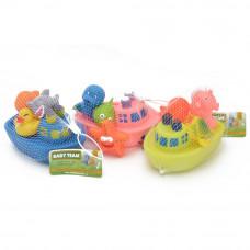 Набор игрушек для ванны Baby Team Корабль друзей 4+ цвета в ассортименте (9000)