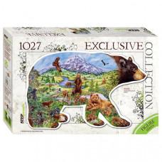 Пазл Step Puzzle Контур-серия Медведь 1027 элементов (83501)