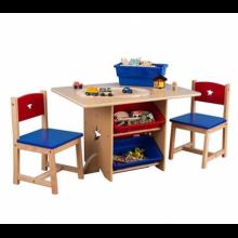 Детский стол с ящиками и двумя стульчиками KidKraft Star Table & Chair Set Синий (26912)