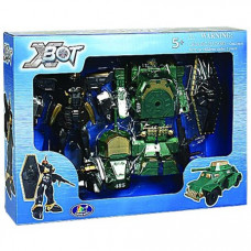 Игровой набор X-Bot Робот-трансформер Танк, Воин Зеленый 15 см (82010R)
