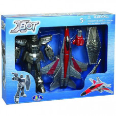 Игровой набор X-Bot Робот-трансформер Самолет, Воин 15 см (82020R)